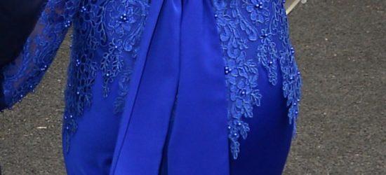 Ontworpen en gemaakt trouwjurk blauw 2