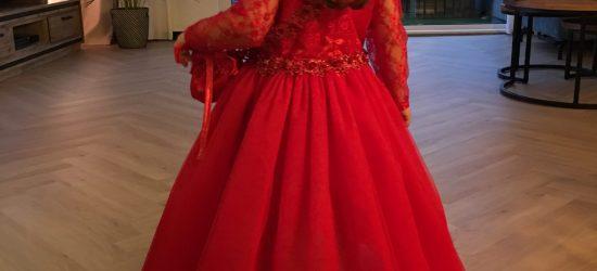 bruidsmeisje rood achterkant