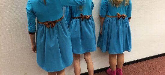 bruidsmeisjes kleding blauw defintief