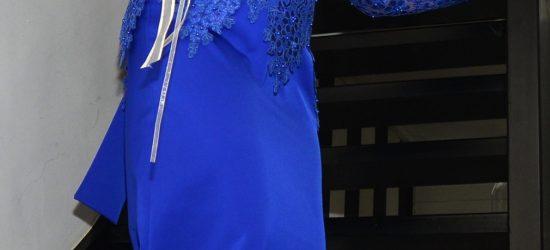 ontworpen en gemaakt trouwjurk blauw 1